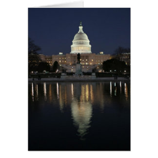 US Capitol Building Night Card