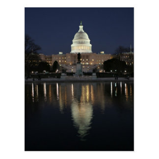 US Capitol Building Night Post Card