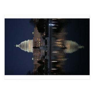 US Capitol Building Night Postcard