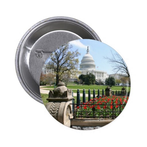 US Capitol building spring 2 Inch Round Button