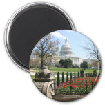 US Capitol building spring 2 Inch Round Magnet