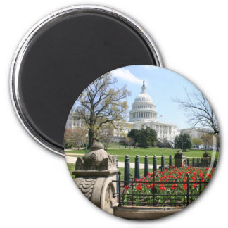 US Capitol building spring Magnet