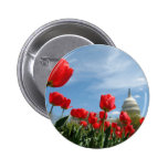 US Capitol Building Spring photo 2 Inch Round Button