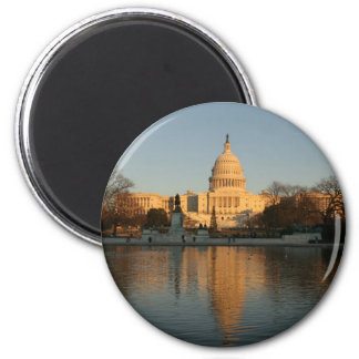 US Capitol Building Sunset 2 Inch Round Magnet
