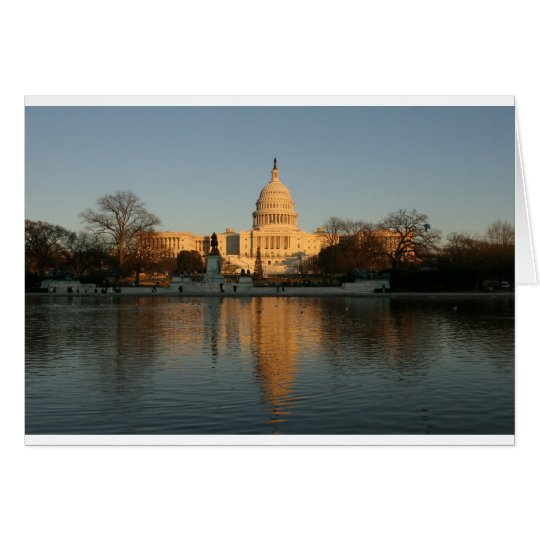 US Capitol Building Sunset Card