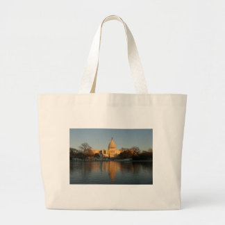US Capitol Building Sunset Large Tote Bag