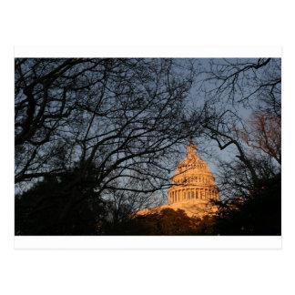 US Capitol Building Sunset Postcard
