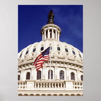 US capitol building, Washington DC Poster