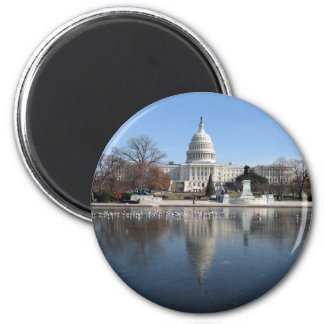 US Capitol building winter  picture Magnet