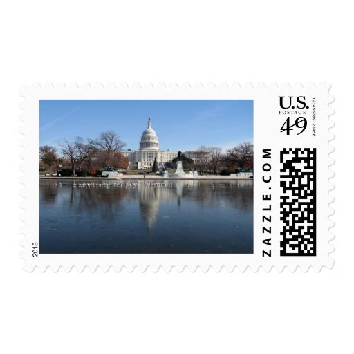 US Capitol building winter  picture Postage Stamps