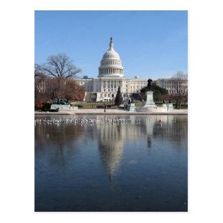 US Capitol building winter  picture Postcard
