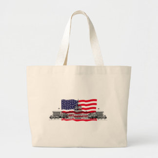 US Capitol Building with American Flag Canvas Bag
