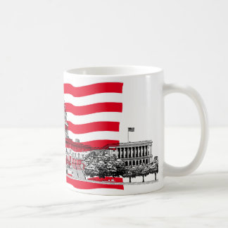 US Capitol Building with American Flag Coffee Mug