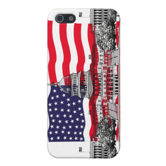 US Capitol Building with American Flag Cover For iPhone SE/5/5s