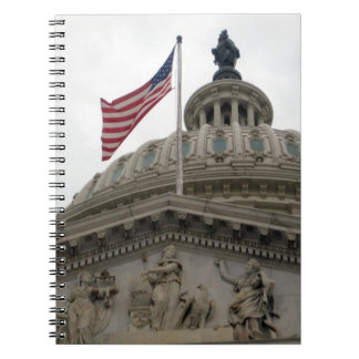 US Capitol Building with American Flag - East Note Books