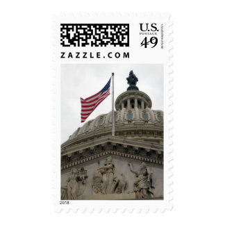 US Capitol Building with American Flag - East Stamp
