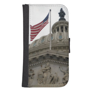 US Capitol Building with American Flag - East Samsung S4 Wallet Case