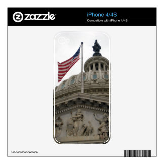 US Capitol Building with American Flag - East Skin For iPhone 4
