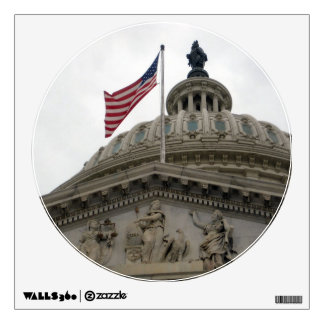 US Capitol Building with American Flag - East Wall Sticker