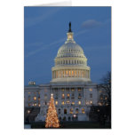 US Capitol celebrating Christmas photo Greeting Card
