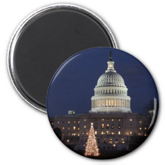 US Capitol celebrating Christmas photo Magnet
