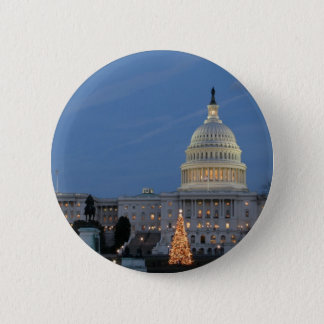 US Capitol celebrating Christmas photo Pinback Button