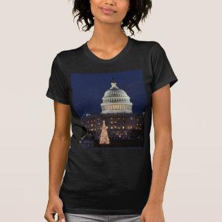 US Capitol celebrating Christmas photo Shirts