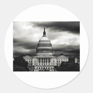 us capitol classic round sticker