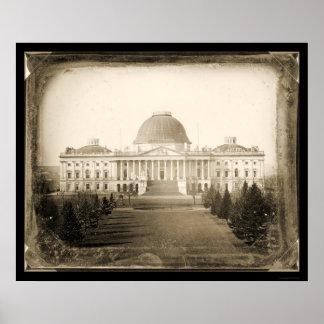 US Capitol DC Daguerreotype 1846 Posters