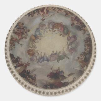 US Capitol Dome Classic Round Sticker