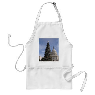 US Capitol Hill christmas tree Adult Apron
