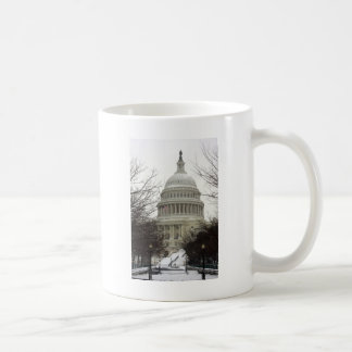 US Capitol in Snow Coffee Mug