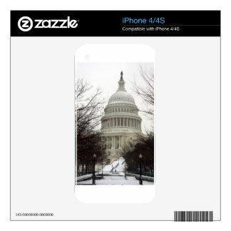 US Capitol in Snow Decals For iPhone 4