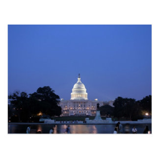 US Capitol night picture Postcard