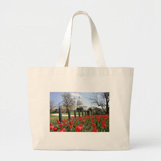 US Capitol spring flower Large Tote Bag