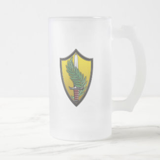 US Central Command Frosted Glass Beer Mug