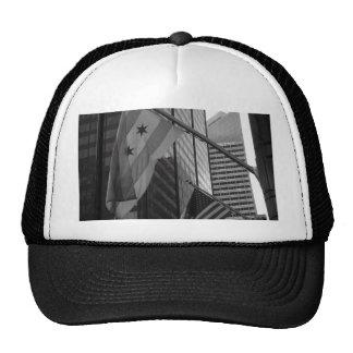 US & Chicago city flag Hats