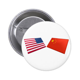 US & China Flags Pins