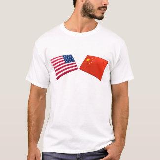 US & China Flags T-Shirt