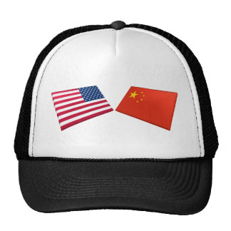 US & China Flags Trucker Hat