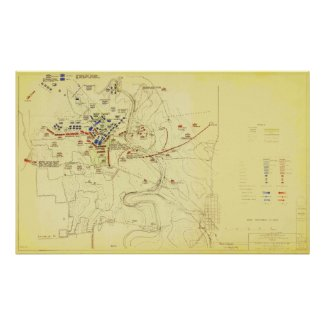 US Civil War Battle of Stones River Historic Map Posters