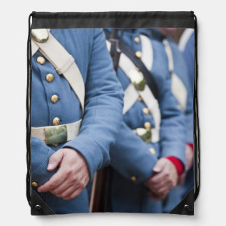 US Civil War-era Marines, military Drawstring Backpack
