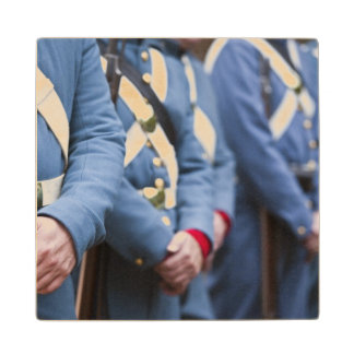 US Civil War-era Marines, military Wooden Coaster