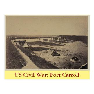 US Civil War: Fort Carroll Postcard