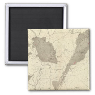 US Coal Fields 2 Inch Square Magnet