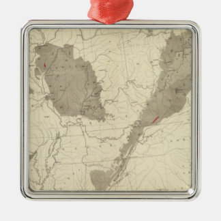 US Coal Fields Metal Ornament