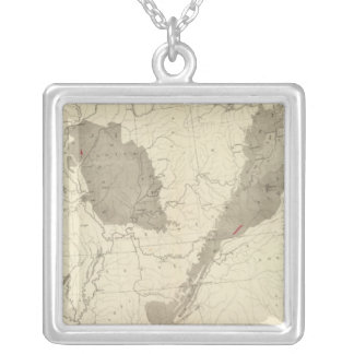 US Coal Fields Silver Plated Necklace