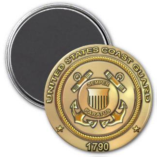 US Coast Guard 3 Inch Round Magnet