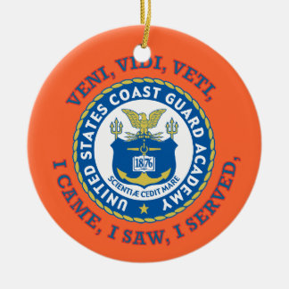 US Coast Guard Academy Double-Sided Ceramic Round Christmas Ornament