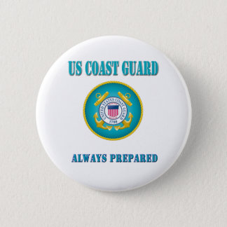 US Coast Guard Always Prepared Button